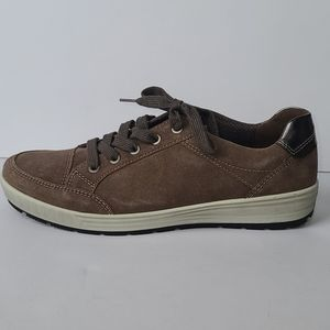 Ara comfort suede leather brown sneaker size 9